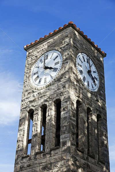 Klok toren atlanta Illinois Verenigde Staten Stockfoto © benkrut