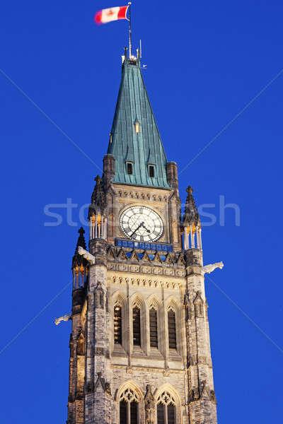 Barış kule Ottawa şaşırtıcı ontario Kanada Stok fotoğraf © benkrut