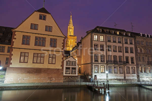 Old Town architecture with Strasbourg Minster. Strasbourg, Alsac Stock photo © benkrut