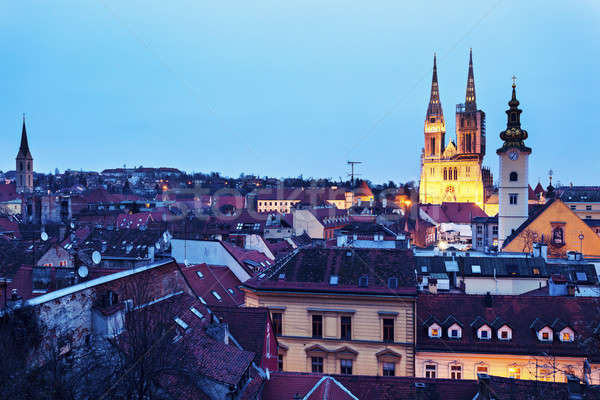 Zagreb Cathedral and St. Catherine Church  Stock photo © benkrut