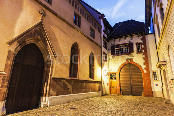 Basel old town street Stock photo © benkrut