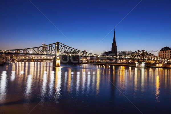 The Iron Bridge and Dreikonigskirche  Stock photo © benkrut