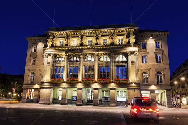 Architecture of Bundesplatz in Bern at night Stock photo © benkrut