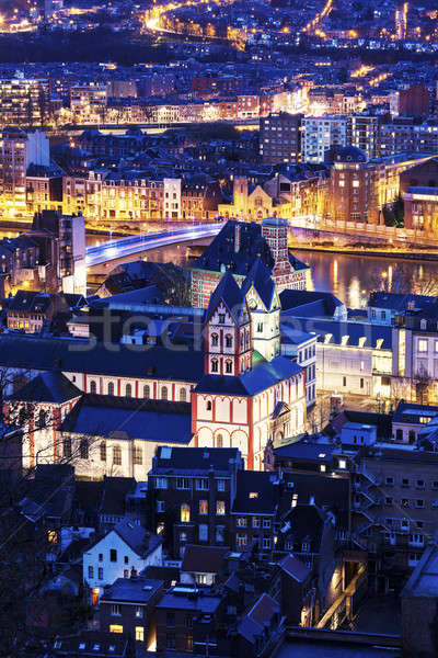 Collegiate Church of St. Bartholomew in Liege Stock photo © benkrut