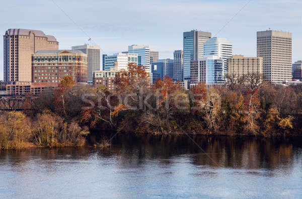 Ufuk çizgisi Virjinya ABD gökyüzü Bina şehir Stok fotoğraf © benkrut