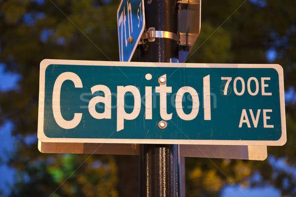 Capitol Avenue in Springfield Stock photo © benkrut