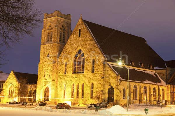 первый Церкви Восход Канзас США Сток-фото © benkrut