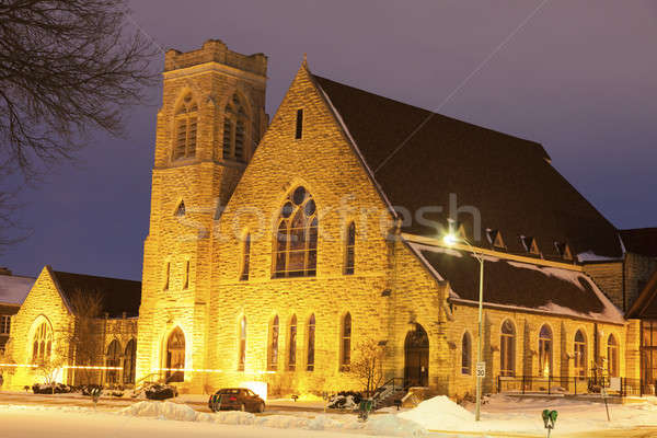 First Presbyterian Church in Topeka at sunrise  Stock photo © benkrut