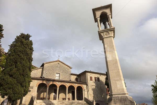 Церкви Сан-Марино облачный день путешествия Skyline Сток-фото © benkrut