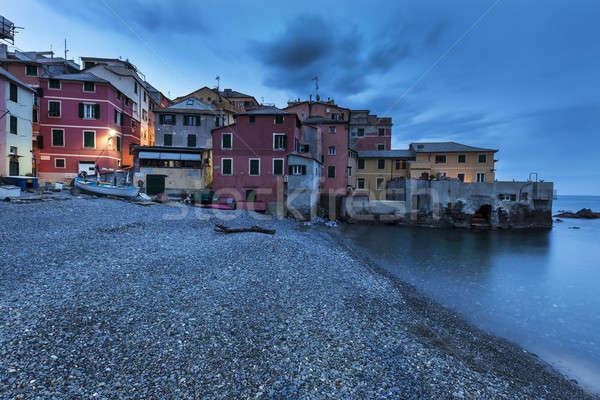 Boccadasse harbor in Genoa Stock photo © benkrut