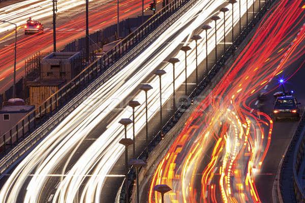 Auto rotta centro città autostrada traffico Foto d'archivio © benkrut