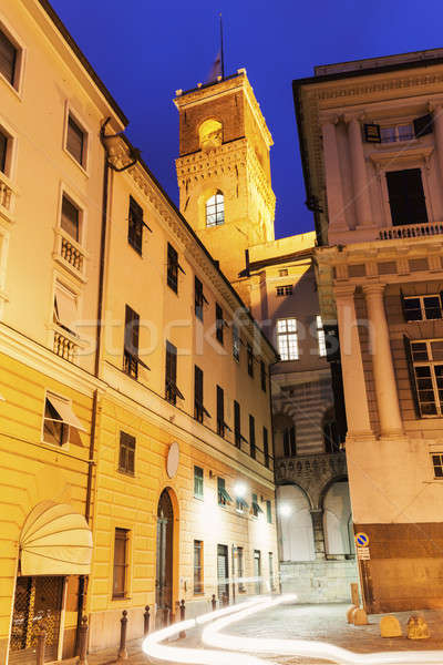 Genoa Old Town street at night Stock photo © benkrut