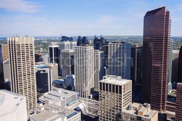 Panorama moderne calgary skyline gebouw architectuur Stockfoto © benkrut