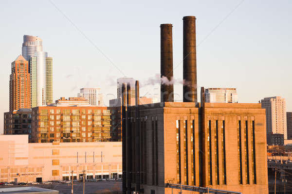 Industrial edificio centro sur bucle Chicago Foto stock © benkrut
