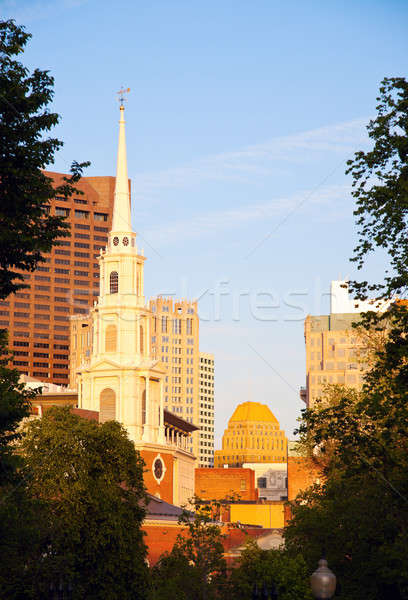 Церкви центра Бостон Сток-фото © benkrut