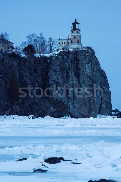 Split Rock Lighthouse at dusk Stock photo © benkrut