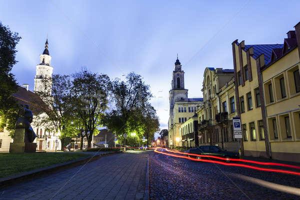 教会 町役場 リトアニア 建物 市 ストックフォト © benkrut