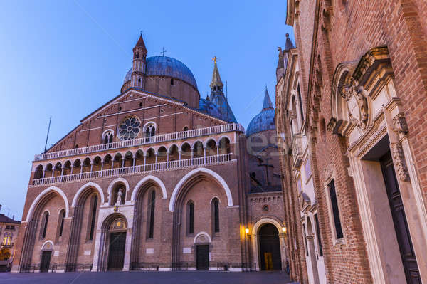 Piazza del Santo and Basilica of St. Anthony in Padua Stock photo © benkrut