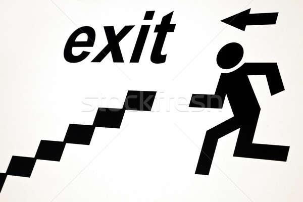 Exit sign Stock photo © benkrut