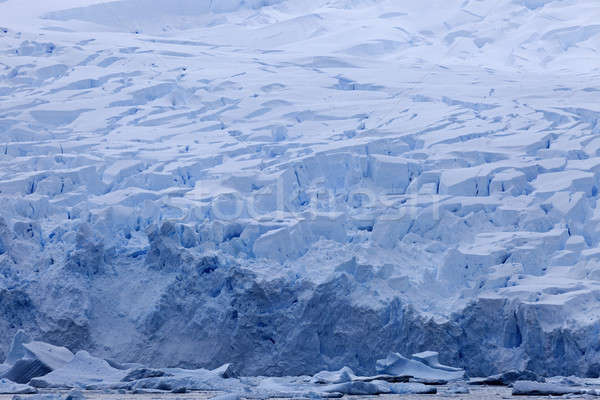 Antarctica landscape - glacier Stock photo © benkrut