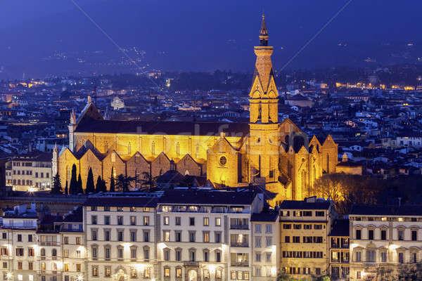 Basilica of Santa Croce Stock photo © benkrut
