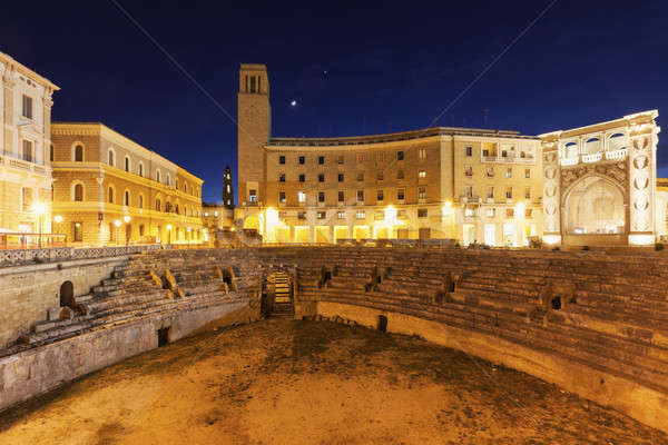 Piazza Santo Oronzo and Roman Amphitheatre in Lecce Stock photo © benkrut