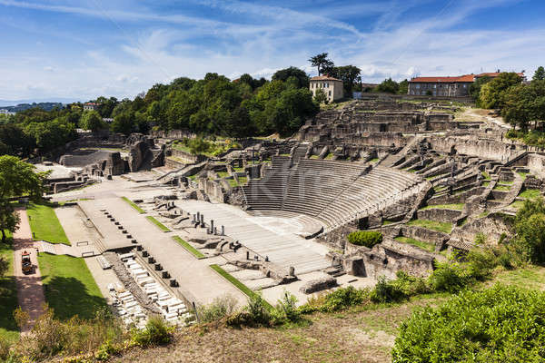 Ruins of Roman Theatre in Lyon Stock photo © benkrut