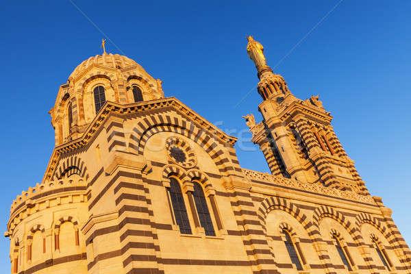 La bazylika Marseille kościoła niebieski podróży Zdjęcia stock © benkrut