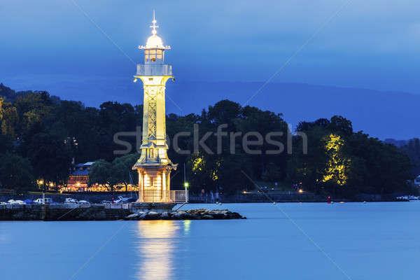 Latarni Szwajcaria wody budynku niebieski Zdjęcia stock © benkrut