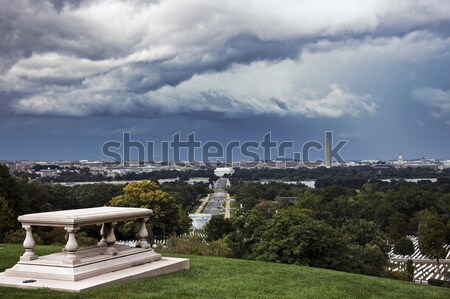 Heavy clouds over Washington Stock photo © benkrut