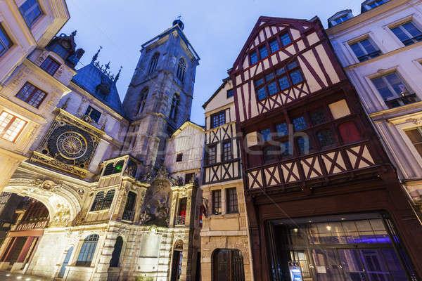 Arhitectura veche normandia Franta oraş albastru călători Imagine de stoc © benkrut