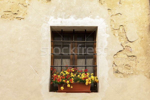 Window in old town of Montepulciano Stock photo © benkrut
