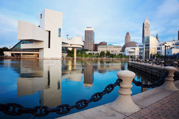 Cleveland seen morning time Stock photo © benkrut