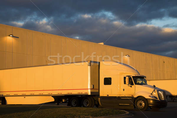 White Semi Truck  Stock photo © benkrut