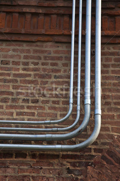 Fiber and power conduits Stock photo © benkrut