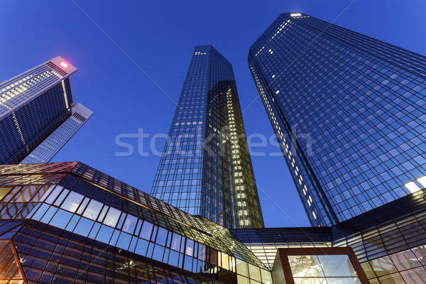 Modern architecture of downtown of Frankfurt  Stock photo © benkrut