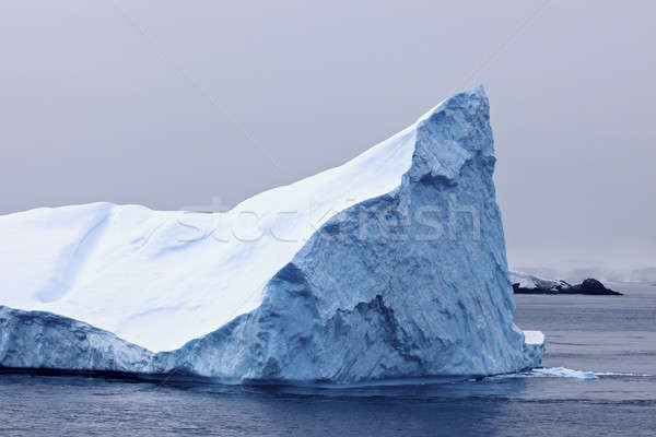 Iceberg panorama mare cielo acqua Foto d'archivio © benkrut