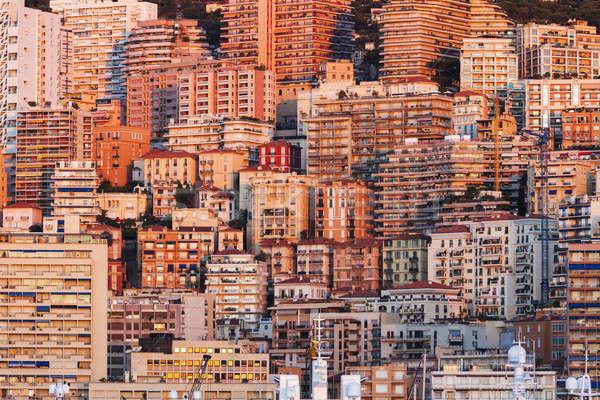 Монако Восход квартиру зданий город путешествия Сток-фото © benkrut
