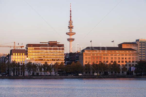 塔 ハンブルク ドイツ 建物 市 旅行 ストックフォト © benkrut