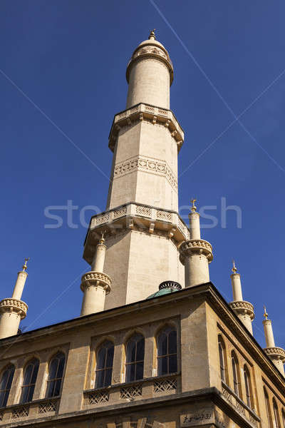 Minaret in Lednice. Lednice, South Moravia, Czech Republic.  Stock photo © benkrut