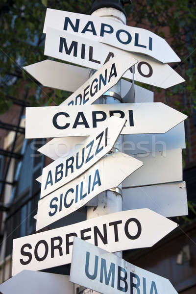 Boston Italië centrum stad Stockfoto © benkrut