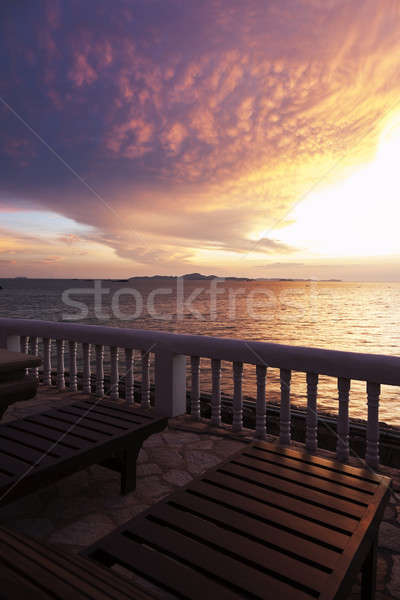 View on the Gulf of Thailand Stock photo © benkrut
