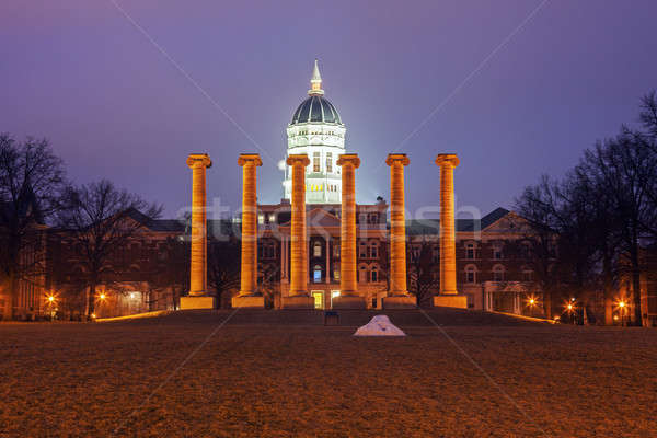 Columns in front of University of Missouri building in Columbia Stock photo © benkrut