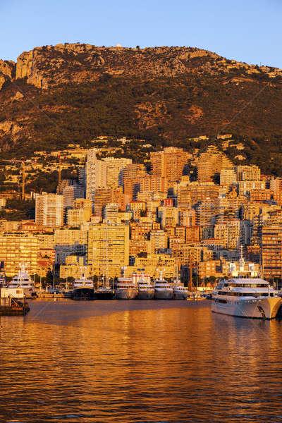 порта Монако Восход путешествия лодка Skyline Сток-фото © benkrut