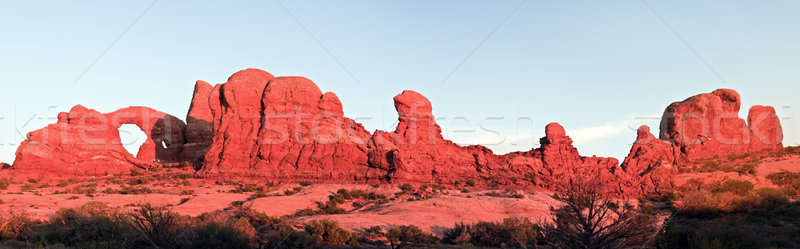 Panoramic sunset in Arches National Park Stock photo © benkrut