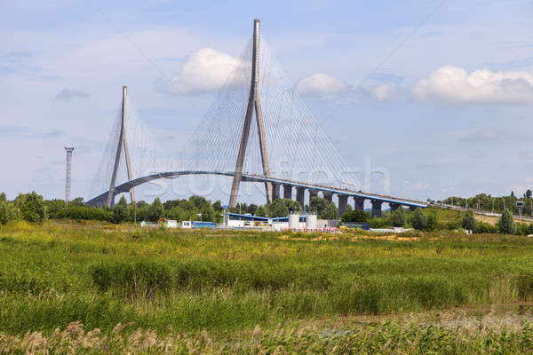 Pont de Normandie in Le Havre Stock photo © benkrut