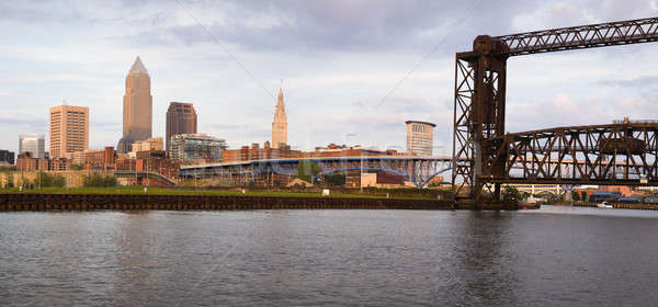 Panoramic view of downtown Cleveland Stock photo © benkrut