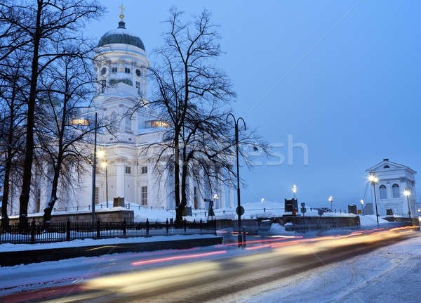 Stock photo: Morning traffic by Lutheran Cathedral