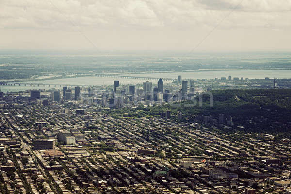 Aerial view of Montreal Stock photo © benkrut