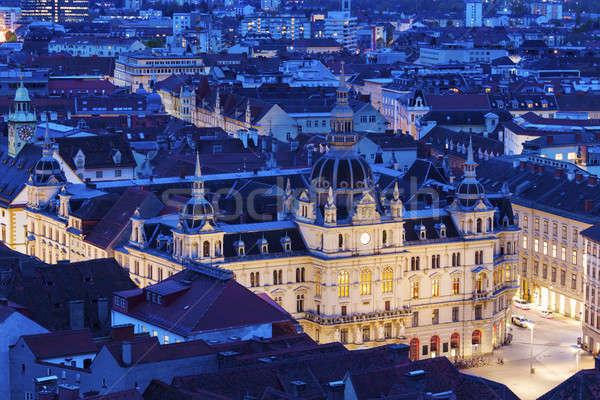 Graz City Hall on Hauptplatz Stock photo © benkrut